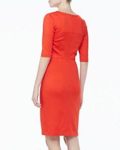 Trina Turk | Danton Fitted Ponte Dress - CUSP $298