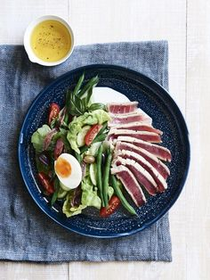 Classic Salad Niçoise with fresh tuna. Photo Eve Wilson, recipe and styling Lucy Feagins for thedesignfiles.net