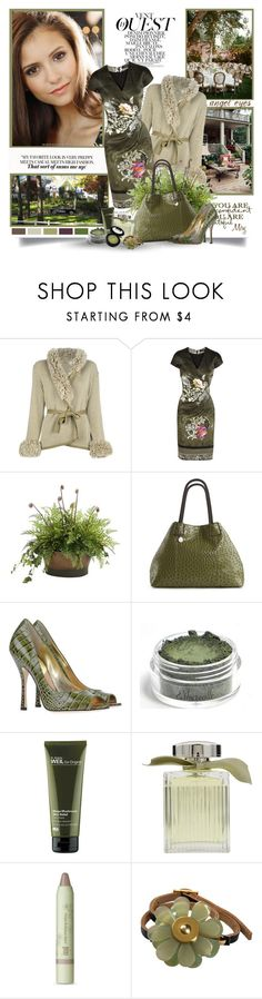 """Nina Dobrev"" by thewondersoffashion ❤ liked on Polyvore featuring CÉLINE, Etro, WALL, Distinctive Designs, Big Buddha, Dsquared2, Origins, Chloé, Pixi and Marni"