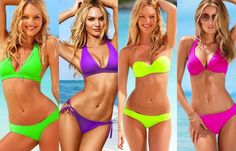 Nice #neon solids for #swimwear