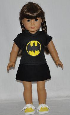 4b7920847 American Girl Doll Clothes Handmade Black by DollClothesByChun Black Batman,  Batman Costumes, Ag Dolls