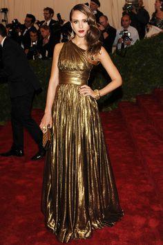 Jessica Alba // Met Ball 2012 // Michael Kors dress