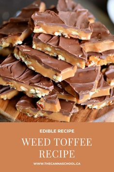 Learn how to make weed toffee with this simple edible dessert recipe. Weed Recipes, Marijuana Recipes, Cannabis Edibles, Baking Recipes, Dessert Recipes, Hard Candy Recipes, Cooking With Marijuana, Weed Butter, Cannabis Cookbook