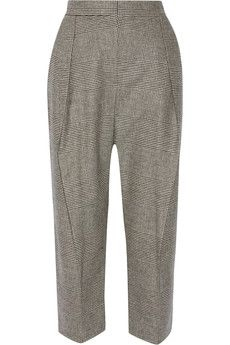 Brunello Cucinelli - Cropped stretch wool and cashmere-blend wide-leg pants