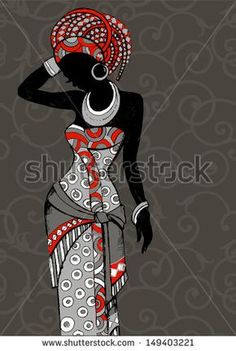 Purchase Hand Drawn Beautiful Black Womanafrican Beauty African People Woman Silhouette Shower Curtain Inches from Andrea Marcias on OpenSky. Beautiful African Women, African Beauty, African Fashion, Ankara Fashion, African Men, African Attire, African Style, African Dress, Afrika Tattoos