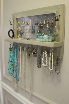 jewelry organizer using doordrawer pulls Accessories Pinterest
