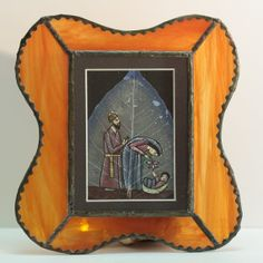 Nativity Wall Hanging. Leaded Glass.  Mary and by VintageOnWings, $15.00