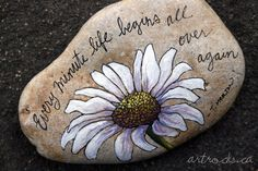 Diy painted rocks ideas with inspirational words and quotes Pebble Painting, Pebble Art, Stone Painting, Diy Painting, Stone Crafts, Rock Crafts, Inspirational Rocks, Rock And Pebbles, Rock Painting Designs