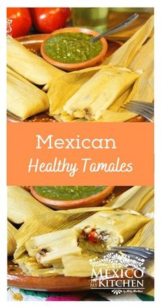 Looking for a healthier way to make Tamales? This is really an excellent option to make a low-fat version of tamales for those of you that prefer not to make them with lard. My family loves these tamales, and they don�t even notice the difference. Spicy Recipes, Chicken Recipes, Vegan Recipes, Real Mexican Food, Mexican Food Recipes, Sweet Tamales, All American Food, Tamale Recipe, Vegetarian Options
