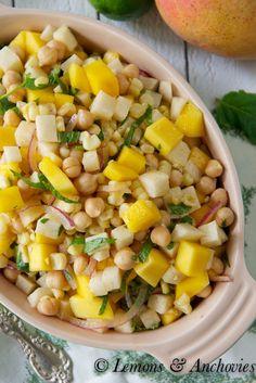 Mango Jicama & Corn Salad | http://lemonsandanchovies.com @Jean Pope | Lemons & Anchovies