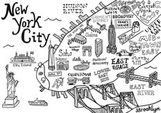 Illustrated New York City Map by Claire Lordon