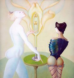 Leonor Fini - la lecon de botanique -Huile sur toile - Oil on canvas - 1974 - Surrealism - The Botany Lesson