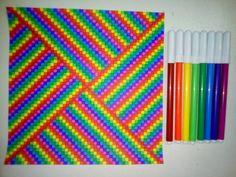 - Pixelart & Zeichnungen - - New Ideas Graph Paper Drawings, Graph Paper Art, Easy Drawings, Rainbow Drawing, Rainbow Painting, Bullet Journal Ideas Pages, Bullet Journal Inspiration, Mandala Design, Mandala Art