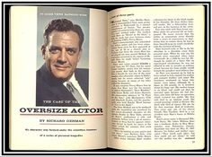 TV Guide article about Raymond Burr as Perry Mason titled 'The Case of the Oversize Actor' (March 18, 1961)