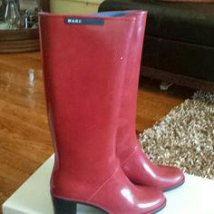 Rubber boots Boots scuffs on in sides Marc Jacobs Shoes Winter & Rain Boots