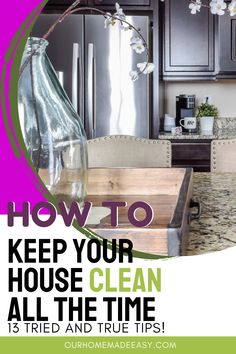 If you're a busy mom (and who isn't!) you don't have hours to spend cleaning your house. But you can still have a house that is clean all the time! Here are my best 13 tips for working moms who still want a clean home!