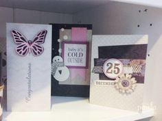 Sizzix Big Shot Starter Kit cards by Debi Potter - The Stitches 2014 Report - picture heavy post!