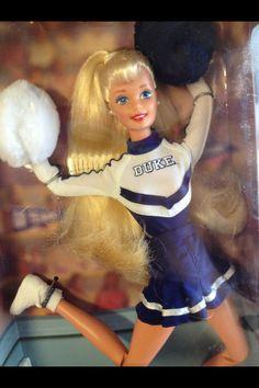 Barbie is a collegiate cheerleader for Duke University