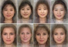 What Does The Average Face Look Like In Every Country Around The World? These photos try to answer this question that has been asked by some for centuries. Average Face, Average Person, People Around The World, Around The Worlds, Portraits, Anatomy Reference, Face Reference, Female Photographers, Perfect Skin