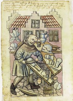Armorer, House Books of the Nuremberg Twelve Brothers Foundation, Nuremberg 1388 Occupation and dress
