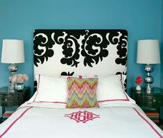 i could do this with my bed linens as they are today...but will i be satisfied?  (kate's bedroom, again my muse.)