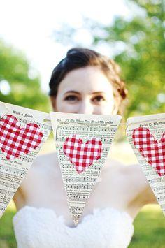 heart flags.. festa junina