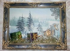 Christmas sleigh picture box