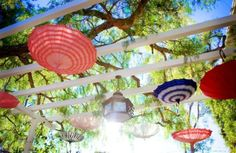 Hanging parasols from our Amelie inspired wedding! | Yelp
