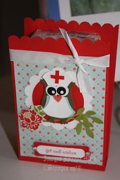 get well owl- card and box....Leighann Baird...you could so make these. Love