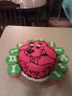 Clifford Cake Cakes Pinterest Cake Birthdays And