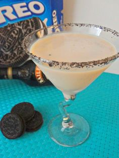 3 oz Bailey's Irish Cream  3 oz chocolate vodka  Ice  Oreo cookies for the rim    Combine first 3 ingredients in martini shaker, shake it up and serve in martini glass with cookie crumbs on the rim.