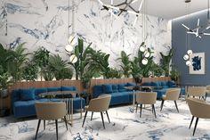 Tendencia en ceramicos 2021 Marble Porcelain Tile, Marble Look Tile, Polished Porcelain Tiles, Marble Effect, Porcelain Floor, Wall And Floor Tiles, Wall Tiles, Room Tiles, Outdoor Walls