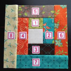 Piece Order- Layer Cake Log Cabin Quilt Pattern- My Little Sewing Blog