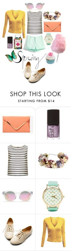 """Cotton Candy"" by nordicstyle ❤ liked on Polyvore featuring NARS Cosmetics, Topshop, eliurpi, Madewell, 2b bebe, Ollio, Doublju and Cotton Candy"