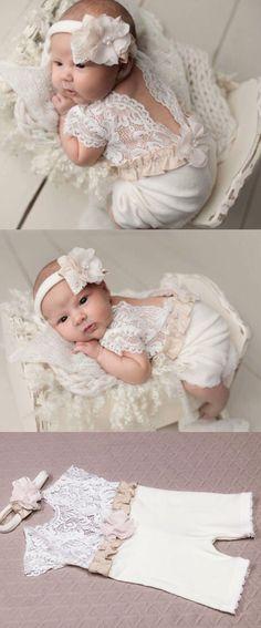 https://www.etsy.com/listing/531894576/newborn-girl-lace-romper-set-newborn?ref=shop_home_active_5 #bebe