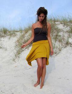 Handkerchief Short Skirt  (light hemp/organic cotton knit) :