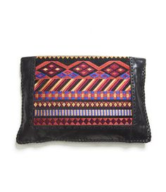 LEATHER WALLET WITH ETHNIC EMBROIDERY - Accessories - Accessories - Woman - ZARA United States