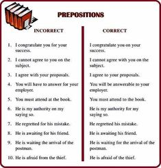 If you make an error when using a preposition, it is very noticeable and can sound like broken English ...