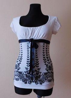 Kup mój przedmiot na #vintedpl http://www.vinted.pl/damska-odziez/bluzki-z-krotkimi-rekawami/14573641-pilot-biala-czarna-bluzka-kwiaty-40