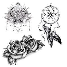 Lot de 6 tatouages temporaires