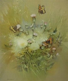 Photo:Print of butterflies by Gordon Benningfield, signed by Beningfield purchased by Dacorum Heritage Trust