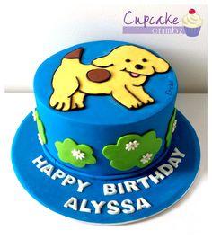 Spot the dog birthday cake, chocolate mud with chocolate ganache