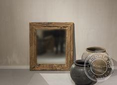 Oud houten spiegel Roots S