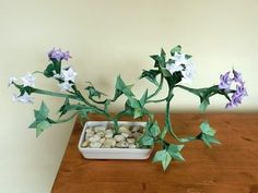 Bonsai Origami Plant with Tiny Flowers - YouTube