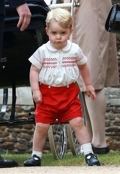 Prince George Photos - The Christening of Princess Charlotte - Zimbio