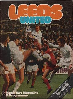 Vintage Football Programme - Leeds United v Ipswich Town, 1974/75 season