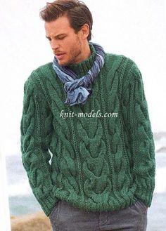 мужской свитер спицами - Поиск в Google