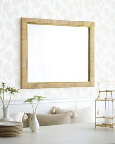 mirror balboa rattan serenaandlily serena mirrors lily cortina dining natural living decorating