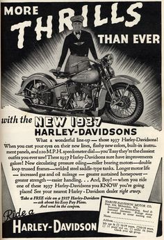 1937 Harley ad.  Man, I'm glad the motorclothes division decided to go a different direction.