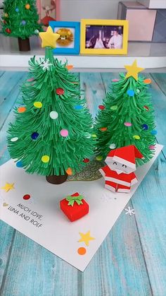 Christmas Ornament Crafts, Christmas Crafts For Kids, Xmas Crafts, Diy Christmas Gifts, Halloween Crafts, Christmas Projects, Diy Paper Christmas Tree, Santa Crafts, Christmas Origami